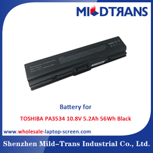 10.8v 5.2Ah 56Wh Black Laptop Battery Pack for Toshiba PA3534