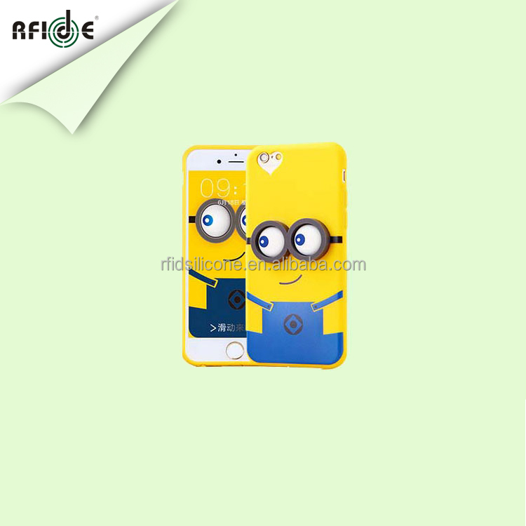 Newest cute cartoon cube silicone mobile case covers