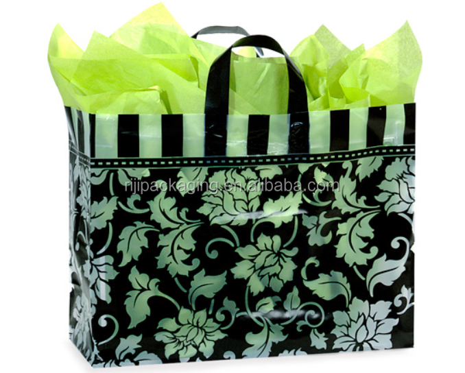 Printed Plastic Polybags Loop Promotion Shopping Handle Bag