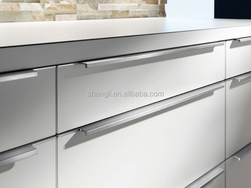Foshan shangli aluminum handle for kitchen cabinet buy for Brushed aluminum kitchen cabinets