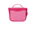 Wholesale large capacity storage striped makeup bag high quality nylon travel hanging cosmetic bag