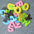 26pcs English alphabet EVA foam fridge magnet with mini tube packaging