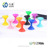 silicone rubber cell phone sucker stand/silicone rubber mobile phone holder/silicone rubber mobile phone stand for gifts