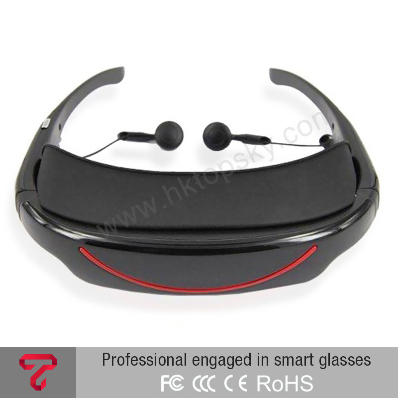 "72"" video glasses player 16:9 goggles 3d wearable video glasses for hone cinema dvd player"