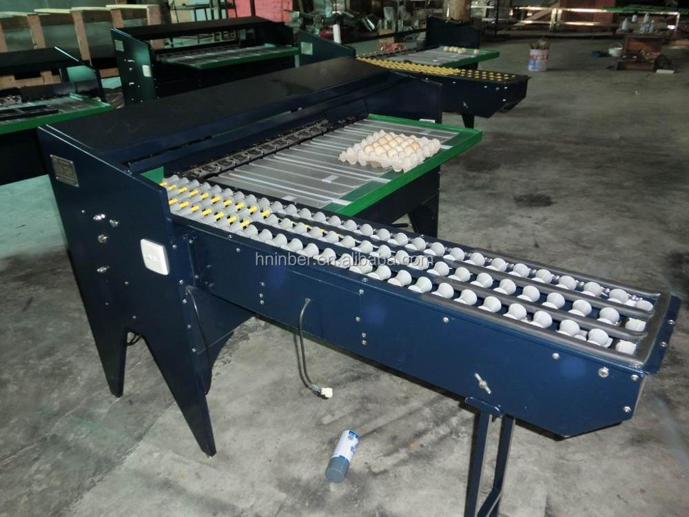 Small scale egg grading machine with low cost