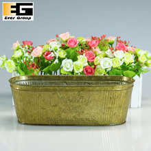 Hot sale oval shaped garden metal pots container