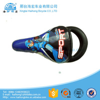 Colorful bright leather cartoon kids bike saddle with ISO 9001
