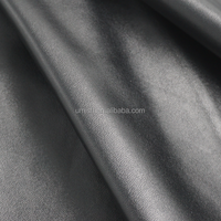 ECO FRIENDLY BLACK ELASTIC WATER BASED PU LEATHER FOR GARMENT