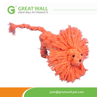Playful Cheap Cotton Dog Rope Toy Pet Product lion