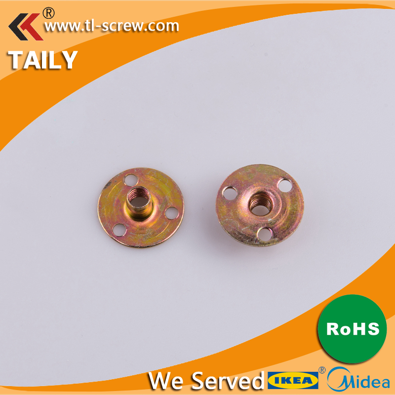 <strong>M8</strong> <strong>M10</strong> Zinc Alloy Iron Three Hole Plate Nuts /Lock Type Nuts / Furniture Nuts