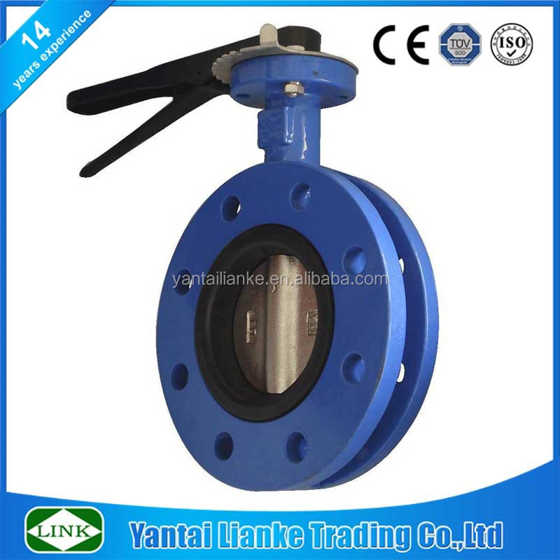 cast iron face to face 1200mm butterfly valve without pin