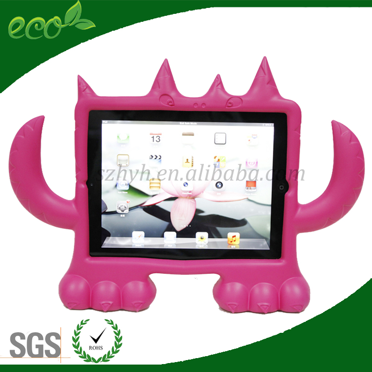 multi color durable kidproof cartoon shape EVA tablet case for iPad 2