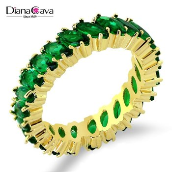 Marriage Jewelry Hot Sell for Lady Wedding Band Color Crystal Cocktail Party Ring
