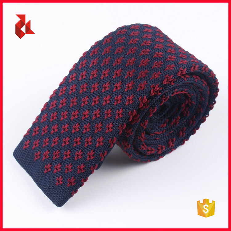 Nice Pattern Men's Polyester Knitted Ties