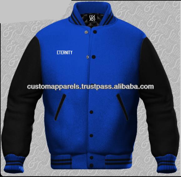 Mens Leather Winter Baseball Varsity Jacket From Wholesale Clothing Factory