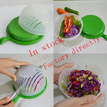 New Style Plastic Fruit&Vegetable chopper 60 second salad cutter bowl
