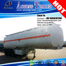 AOTONG Brand truck trailer use air suspension air suspension 3 axles tank semi trailer for fuel liquid transporting