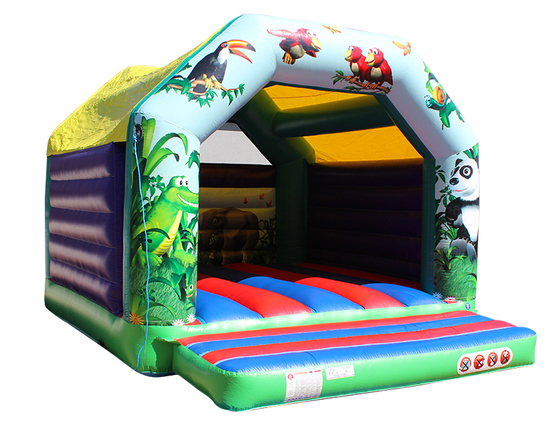 ZZPL Commercial Inflatable Fire Safety House for kids inflatable house