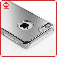 Hot Selling Luxury Silver Hard PC Aluminum Brushed Chrome Metal Case for iphone 5c