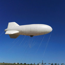 tethered blimp helium zeppelip inflatable airship moored aircraft for search and rescue