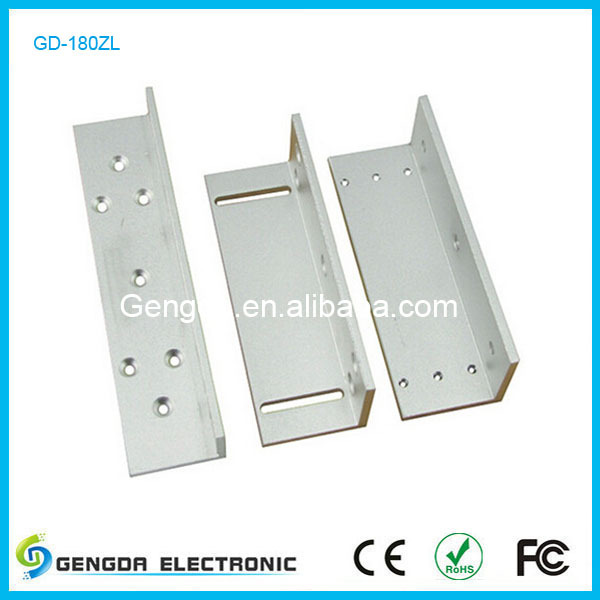 DC12V electric magnetic lock stainless steel l shaped bracket