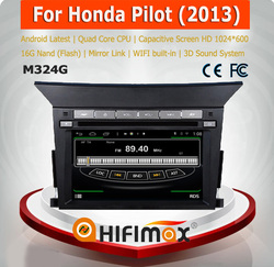 HIFIMAX Android 4.4.4 car dvd player for Honda Pilot WITH Capacitive screen 1080P 16GB WIFI 3G INTERNET DVR