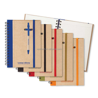 Customized Logo Recycled ECO Friendly Notebook with Pen Inside