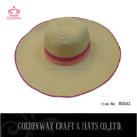 simple paper braid lady dress hats cheap for wholesale summer wide brim hat
