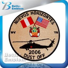 Applique Embroidery Helicopter Patches