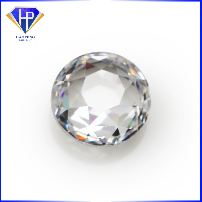 Factory Wholesale Loose AAA grade White Special Round double side cut 189 facets Cubic Zirconia gemstone