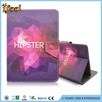 2015 quality alibaba girl cartoon tablet purple leather case for 7 inch tablet