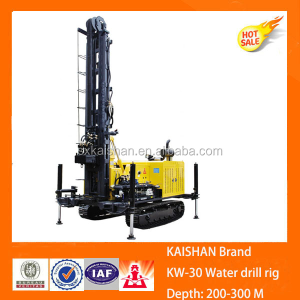 Kaishan truck mounted crawler water well drilling rigs for sale KW30 ,from the world biggest drill rig manufacturer