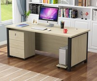 cheap price office computer desk with drawer locker