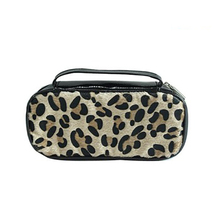 leather pouch canvas zipper sublimation printing cosmetic bag