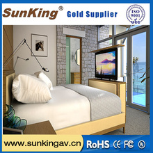 motorized tv lifts for bedroom with remote control for home hotel bed
