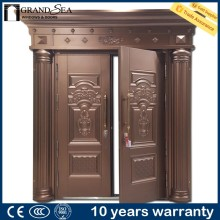 Cheap price lock safety 8 panel steel entry door with IS9001 certification