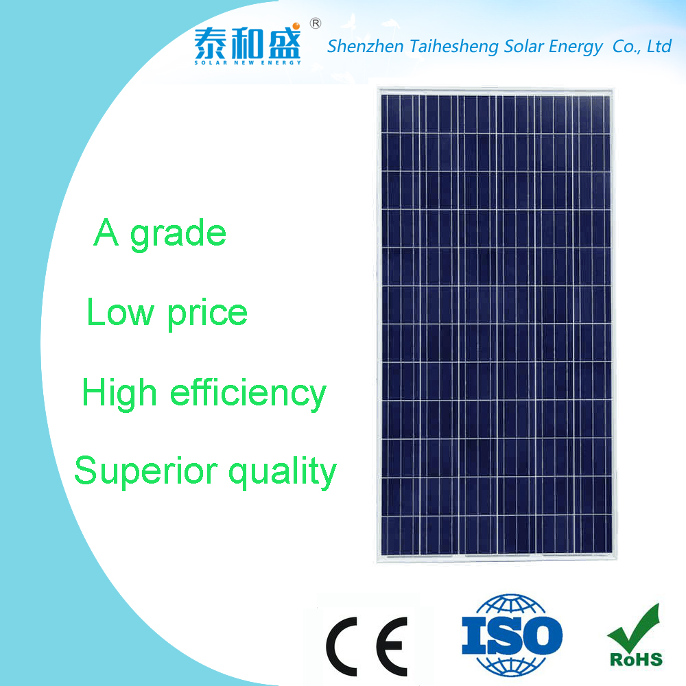 China manufacture solar cell and panel mono poly silicone panel