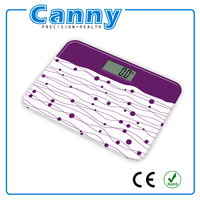 Mini type weighing scales, Digital bathroom scale mini shape, Glass electronic body scale for Familly Use