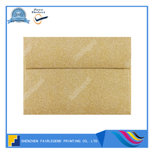 Hot sales gold glitter lined envelopes printing