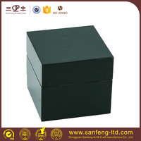 single watch case with drawer, brochure box