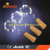 10pcs Leds Solar String Light Wine Bottle Cork Lights With White Yellow RGB Three Colors Copper String fairy Lights