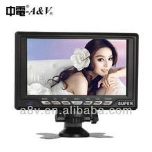 7inch portable digital LCD tv with tv tuner fm/am radio usb/sd card reader