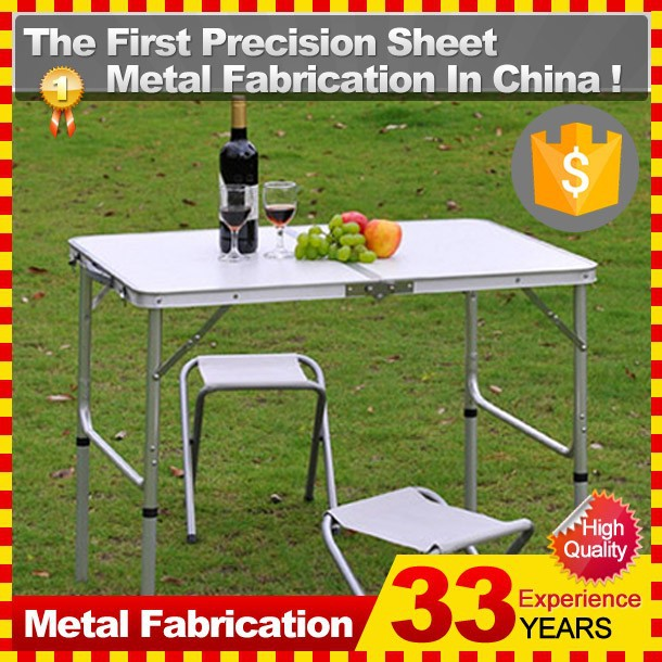 Wholesale Camping Suitcase Metal Folding Picnic <strong>Table</strong> and Bench Chair Sets