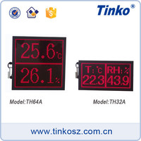 Ceiling Wall Mount Temperature HumidityDate Time Display Unit, Ceiling Mount LED Monitor for Temperature Humidity