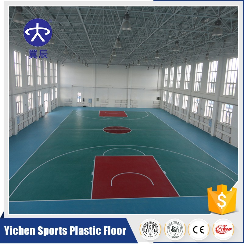 PVC indoor bastetball courts flooring