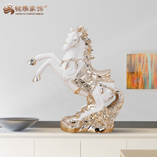 Factory wholesale animal themed handmade craft large size resin horse statue for home decoration