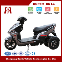 Super X6,Cheap adults 60V 2000W electric tricycle with Lead Acid Battery for Sale
