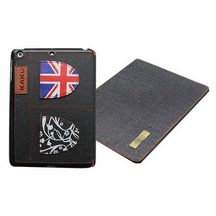 Durable best selling rotating leather case for ipad air