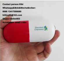11*4cm anti stress pill ,pu pill toy solid with soft hand feel popular promotional PU Stress Ball