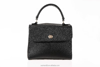 Quality first stylish cheap fashion brands handbag, black tote bag